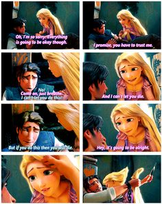 Tangled. The Saddest part in the whole movie.  I was like, literally crying the other day when I watched this, and everyone else was just like 'shut up.'