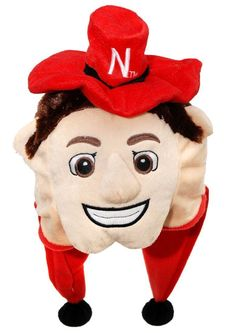 Nebraska Huskers Mascot Themed Dangle Hat