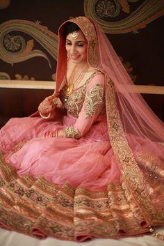Peach Bridal lehenga and saree   Peach Theme and Decor   Wed Me Good