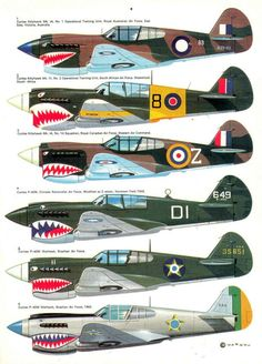 P-40 Shark mouths