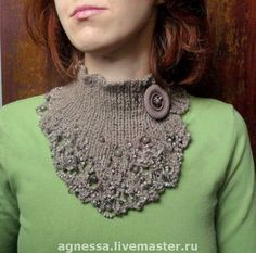 Agnessa: November Warmth scarf necklace