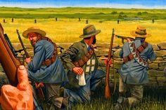 Boer Commandos in battle, Boer War Historical Art, Historical Pictures, Military Art, Military History, South Afrika, War Novels, Early Modern Period, Vintage Dance, War Film