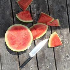 #cabinlife watermelon on the dock.