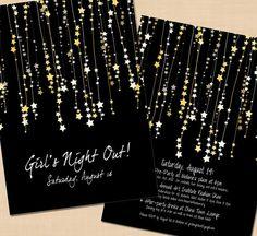Premium Star Streamers Bachelorette Party Invitation - 5 x 7 on Etsy, $26.00