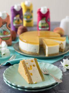 No-Bake-Pfirich-Eistee-Torte Peach Ice Tea, Peach Jam, Vanilla Sugar, Vanilla Cake, Baked Peach, Springform Pan, Cake Ingredients, Tea Cakes, Melted Butter