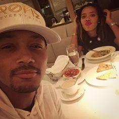 Romeo and AngelaSimmons-#RandomDinner #Selfies #Nyc