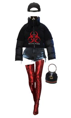 """Untitled #261"" by danielime ❤ liked on Polyvore featuring J.W. Anderson, Alexander Wang and Gucci"