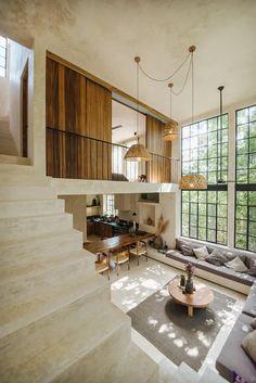 A Beautiful Loft Airbnb in Tulum - The Nordroom Dream Home Design, Home Interior Design, Interior Architecture, Modern Interior, Scandinavian Interior, Kitchen Interior, Casas Containers, Loft Design, Design Design