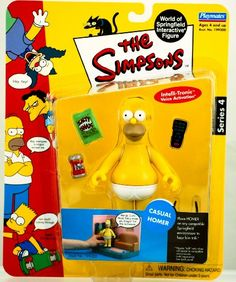 Simpsons Casual Homer Action Figure Playmates Series 4 The Simpsons