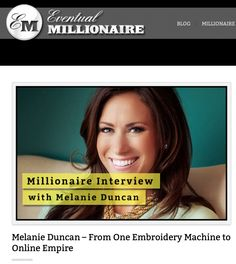 "Video interview sharing my journey with ""The Eventual Millionaire"": http://eventualmillionaire.com/melanie-duncan/"