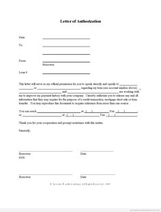 Authority Form Template Pinterest