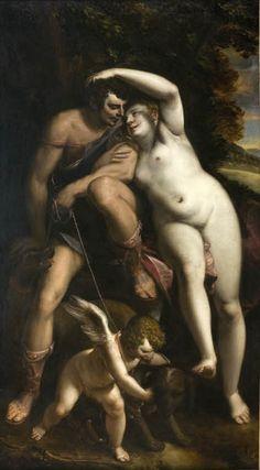 Luca Cambiaso Vénus et Adonis / Venus and Adonis © Musée du Louvre - Harry Bréjat Italian Renaissance, Renaissance Art, Aphrodite, Monet, Picasso, Van Gogh, Paris 13, Louvre, Museum