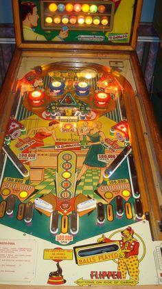 """1958 Roto Pool """"Gottlieb"""" Pinball Machine"""