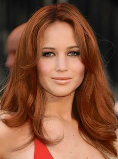 jennifer lawrence red hair color | JENNIFER LAWRENCE WITH RED HAIR by CheonYoonA: After a TAAZ Virtual ...