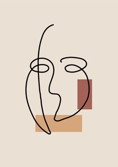 #abstract #art #mask #aesthetics Art Abstrait Ligne, Abstract Face Art, Painting Abstract, Outline Art, Face Outline, Diy Canvas Art, Minimalist Art, Geometric Art, Aesthetic Art