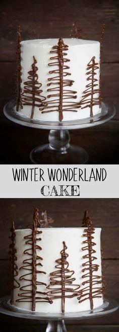 WINTER WONDERLAND CAKE | so cute