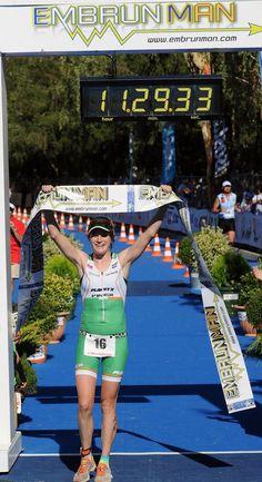 It's a win for Eimear Mullan at the Embrunman Triathlon. #Triathlon #TeamFirefly