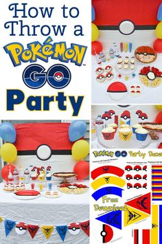 How to Throw a Pokémon GO Party - Throw a Pokémon GO party with these fun food…