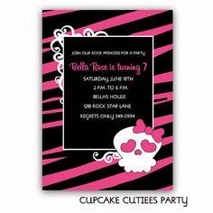 Punk Rock Princess  Digital Custom by CupcakeCutieesParty on Etsy, $12.00