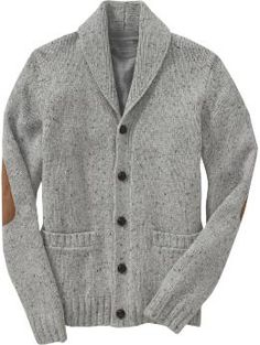 Old Navy Rib knit shawl collar Five button closure Rib knit cuffs, hem and pockets Faux suede patches at elbows Cardigans hit at hip Mens Shawl Collar Cardigan, Sweater Cardigan, Men Sweater, Elbow Patch Sweater, Elbow Patches, Mens Fashion Sweaters, Sharp Dressed Man, Winter Wear, Sweater Weather