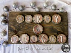 twelveOeight: Merry + Bright Rustic Christmas Wall Art