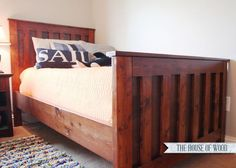 Build it yourself bed frame. This blog is full of DIY wood working projects. #Christmas #thanksgiving #Holiday #quote