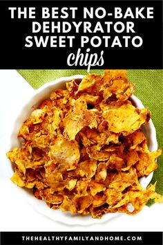This healthy Gluten-Free Vegan Dehydrated Sweet Potato Chips recipe is an easy, plant-based snack that's made in a dehydrator with only 3 clean, real food ingredients and can be prepped in about 15 minutes. They're a perfect alternative to store-boug Raw Vegan Recipes, Vegetarian Recipes, Healthy Recipes, Dehydrated Sweet Potato Chips Recipe, Dehydrated Food Recipes, Sweet Potato Chips Dehydrator, Gluten Free Puff Pastry, Dehydrator Recipes, Vegan Appetizers