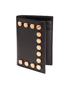 Givenchy Studded Leather Wallet - Black