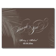 PixDezines Palm Fronds Thank you/DIY color!! Post Card