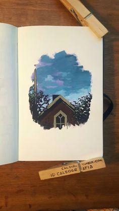 Gouche Painting, Art Du Croquis, Oil Pastel Art, Arte Sketchbook, Mini Canvas Art, Art Journal Inspiration, Art Drawings Sketches, Watercolor Art, Art Projects