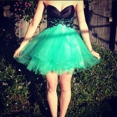 Forever Unique Cody Dress Prom Green Formal Tutu Mint Races