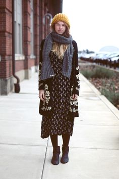 Office Style: Dresses In The Fall seen on Bldg 25 Blog – The Free People Clothing Blog by fp jana