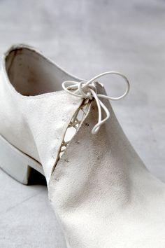 Stitching detail on shoe