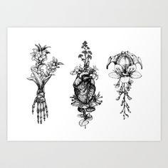 In Bloom - herbarium Art Print by Sinpiggyhead | Society6