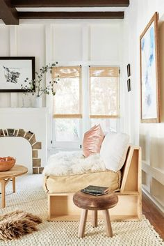cozy + bright living room