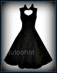 Black brocade 50's vintage style rock and roll rockabilly dress 8 10 12 14 16 18 | eBay