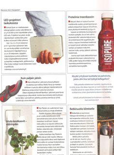 Myyntitykeille proteiinia, Isopure Smoothie Myynti & Markkinointi -lehdessä.