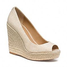 MILAN WEDGE - my white wedge shoe obsession is back for Summer 2013