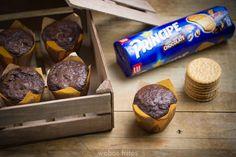 Receta de unos muffins deliciosos hechos con galletas Principe