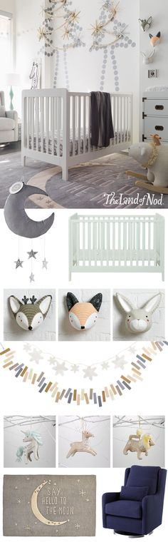 Create a memorable first Christmas for baby with The Land of Nod's lineup of gifts and toys. Baby may not be old enough to write a wish list just yet, but there are tons of presents that'll create smiles all around. From garlands and wall art to furniture and cribs, our presents are safe and fun. Plus, surprise new moms with a swaddle, mobile or rug for the nursery. And to make the season even more festive, personalized Christmas ornaments can be admired for years to come.
