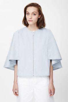Contrast silk blazer
