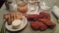 Mmm, chicken fingers with Ranch,  garlic toast and some iced tea and water
