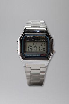 Casio Chrome Classic Watch  #UrbanOutfitters