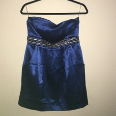 Royal Blue Dress Blue dress in great condition. Size 9 and purchased at Windsor. I only used it once. It has pockets on the side and there are no little jewels missing. If you have any more questions please let me know  WINDSOR Dresses Strapless