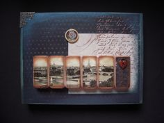 A Brush with Angels: Altered Domino Collages