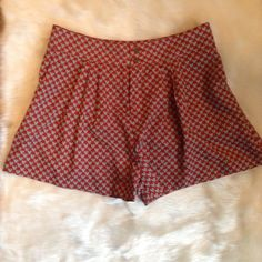 Brooklyn Industries Heart Shorts Heart patterned shorts. Nice metal buttons. Size small/petite. Wonderful condition from pet-free, smoke-free home. 15% bundle discount. Brooklyn Industries Shorts