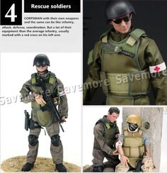 12-Action-Figure-Soldier-w-Rifle-Military-Army-Model-Toy-SWAT-SDU-Boy-Gift-Cool