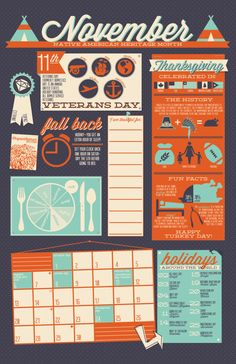 2016 Infographic Wall Calendar por thirdcoastpaper en Etsy