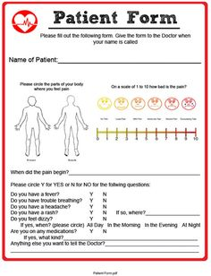 Playing Doctor Patient Checklist For Kids Free Printable