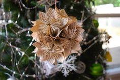 déco de sapin de Noël avec des origami